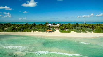 Photo for Luxury beachfront villa on private virgin white beach of the Sian Ka'an, Tulum