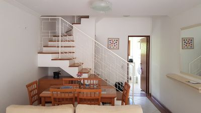 Photo for House with Fireplace in a Condominium 500m from Capivari