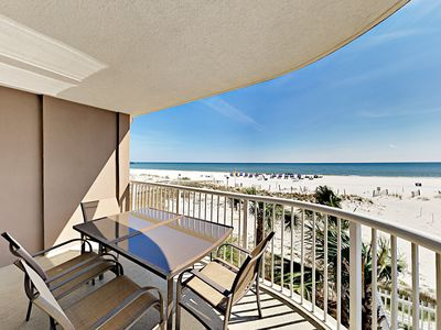 Photo for Beachfront Royal Palms 2BR w/ Epic Gulf Views – Heated Pools, Hot Tub & Sauna