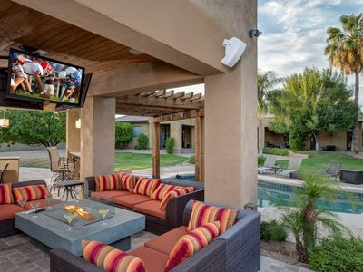 Photo for Luxurious living w/ a private pool, swim-up bar, outdoor kitchen, & more