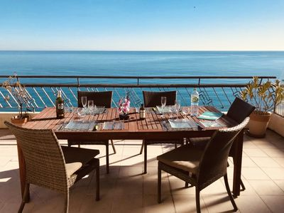 Photo for Beautiful Penthouse Modern Large Terrace 30m2 First Row Promenade Des Anglais