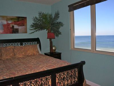 Gorgeous view of the water from the master bedroom.