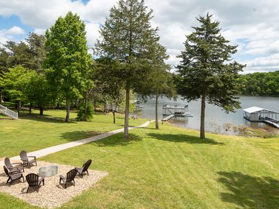 Photo for 'Easy Does It' gentle sloped sidewalk to private double decker dock & hot tub