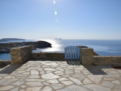 Photo for A Beachfront exclusive Villa with breathtaking view to the Aegean Sea