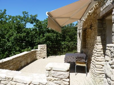 Photo for Provencal stone cottage 2 pers. Welcome dog. Swimming pool . Wlan ...