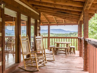 Photo for Amazing views and amenities!  Fantastic Secluded Location , Great views, hot tub