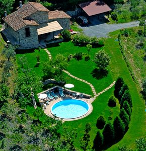 Aereal view of the villa