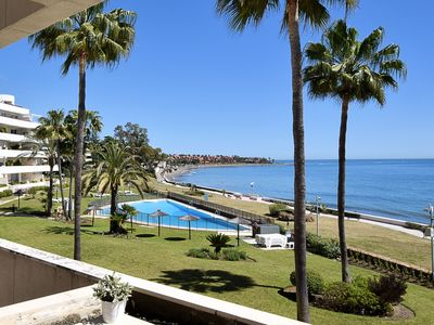 Photo for Beautiful apartment by the sea with spacious terrace near Estepona