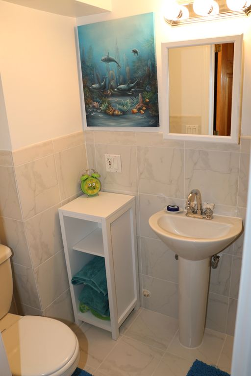 Hoboken Apartment Al The Bathroom Has Just Been Renovated With Brand New Marble Tiles