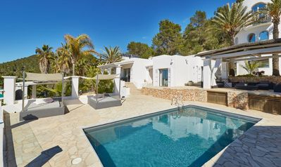 Photo for Spectacular Villa Casa Blanca with 2 pools and wonderful sea views on Es Vedrá