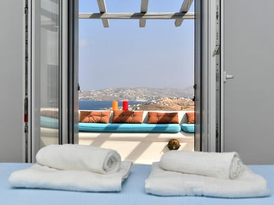 Photo for Villa Myrrine A Magnificent View High Quality Accommodation Absolute Relaxation