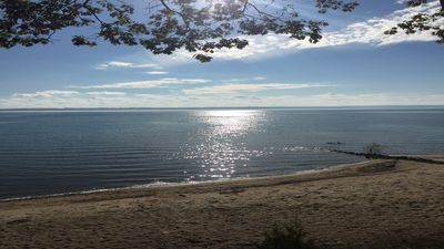 Photo for Grand Traverse Bay Beautiful Beach Front Home 100' Private Beach