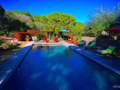 Photo for dreamlike villa with pool directly on the sea near St. Tropez