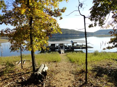 Photo for Wonderful lakefront Bungalow on Beaver Lake.  Access to Swim Dock