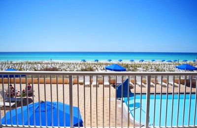 Photo for Direct Ocean View from 2nd Floor, Beautifully Upgraded, Beach Service - Ib2005