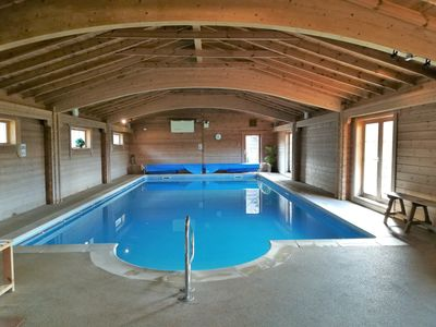 Photo for Spacious Barn Conversion with Hot Tub & Indoor Pool, Sleeps 8