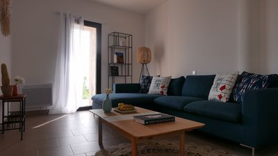 Photo for Low villa apartment - 3 bedrooms - 2 bathrooms - Gulf of Porto view