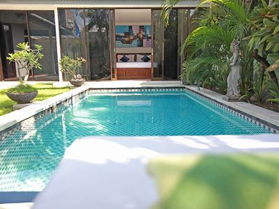 Photo for 2 Bedroom in the very heart of Seminyak, private pool, housekeeping service.