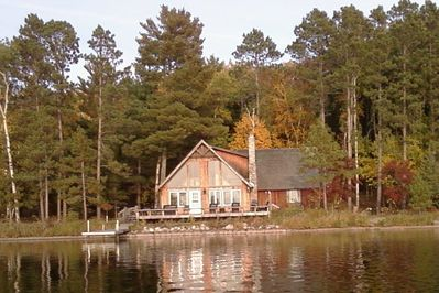 View of main cabin from lake