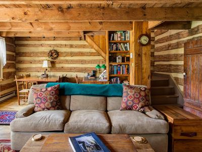Photo for Rustic log cabin with beautiful antique details.