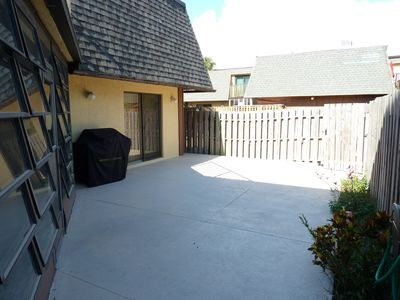 Fenced in Patio