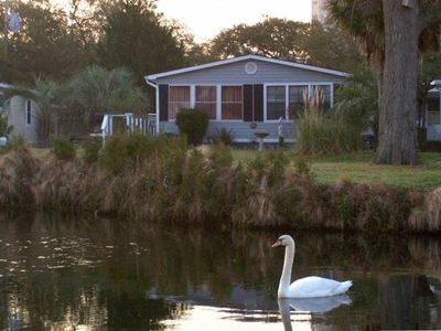 Photo for Pond View, Walk to Beach Pools Hot Tub, 3 Bdr 2 Ba, Golf Cart, Linens, Location!