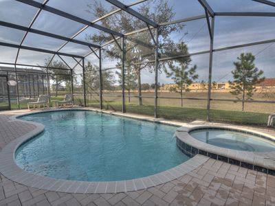 Photo for Luxury 5BR/5BA Villa 2 miles to Disney with Games Room + Free Pool Heating