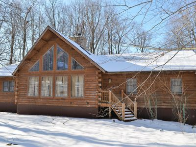Photo for Authentic Kuhn Brothers Log Home - Close to Slopes and Beach