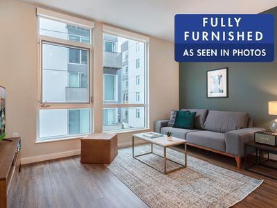 Photo for Sunlit SoMa 2BR w/ Gym, Roofdeck, walk to Tech HQs and BART by Blueground