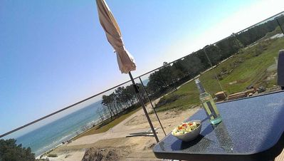 Photo for Sea view apartment with open kitchen - sea view Apartment Ostseebad Binz Prora directly on the beach