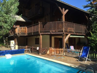 Photo for cozy chalet Serre Chevalier 1400 - ext pool - 14 people