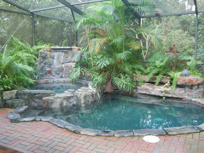 A Cool Pool, and a Hot Tub enough for everyone to hang out in.