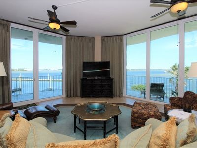 Photo for Caribe Penthouse D107-Westerly Bay View,Large Terrace,Lazy River,Pool Slides!