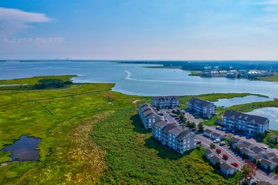 Gorgeous Bethany Bay Condo Community with a view of the Bay and Indian River Bridge