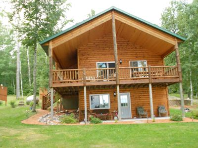 Photo for Year round, beautiful cabin on quiet, clear lake.