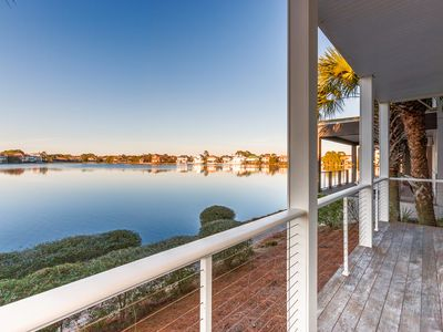 Photo for Steps to the Beach! Lake-View 2-Unit Villa w/ Pool & Abundant Outdoor Space