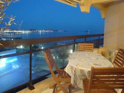 Photo for Sleeps 4. On the beach front with sea view, at 20 m from the beach, wi