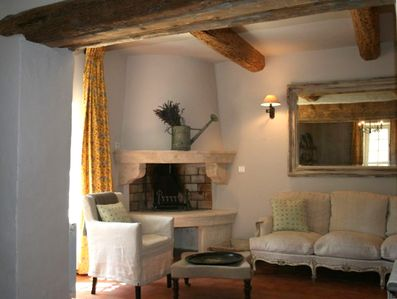 Cozy Evenings by the Fire  - Roussillon Vacation Holiday Rental Luberon Provence