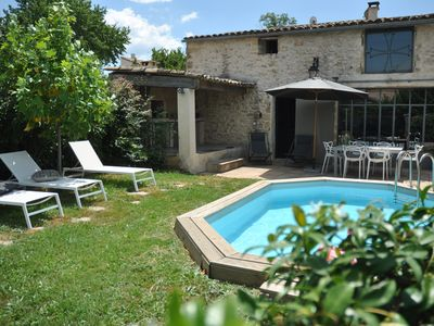 Photo for Renovated character house near Uzes (Gard), with private pool and garden