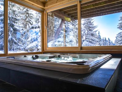 Photo for Exceptional Chalet, View, Jacuzzi, Pool ...