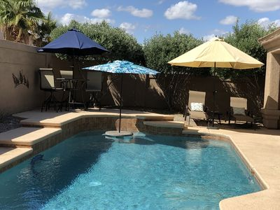Photo for Backyard Oasis! Very private pool! This is the Eagle House!