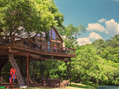 Photo for Gorgeous Creek front Cabin! Swim, Kayak, PaddleBoard, Fish, Fire-pits!