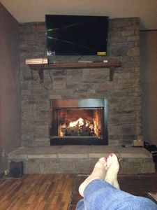 Relax by the fire after a day of sightseeing or hiking!