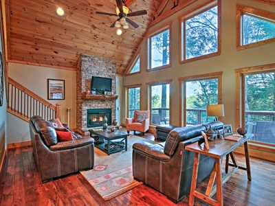 Photo for Blue Ridge Cabin w/Wooded Views, Deck & Hot Tub!
