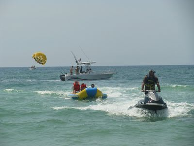 Go on a fishing trip, ride the banana boat, rent a jet ski, or go parasailing