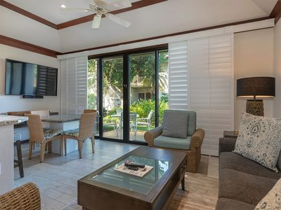 Photo for Ground Floor Ease+Open Kitchen, Lanai, Ceiling Fans, WiFi and Flat Screen–Kiahuna 2030
