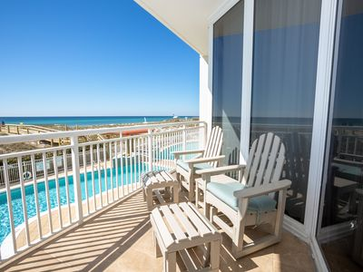 Photo for Gulf views from the balcony of this gorgeous unit!