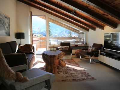 Photo for Cozy 3 bedroom attic apartment overlooking the Matterhorn