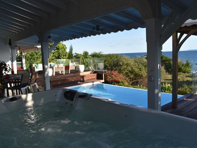 Photo for Top of charming villa with private sea access