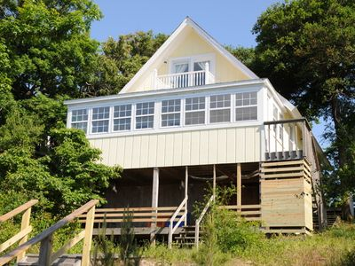 Photo for SOUND-FRONT-BEDROOMS, 2 BATHS, PRIVATE BOAT DOCK/FISHING PIER, WIFi & KAYAKS!